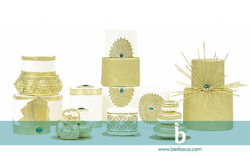 art deco mini cakes