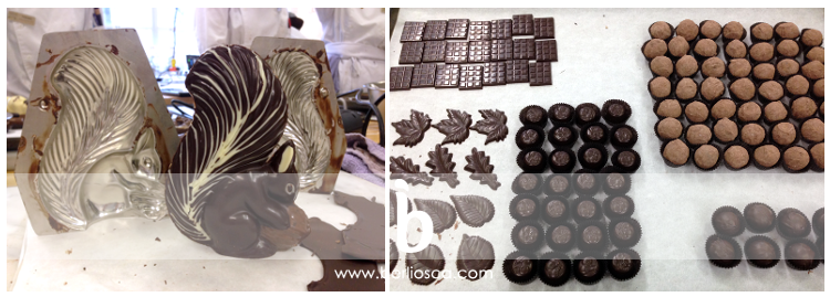partial chocolate production